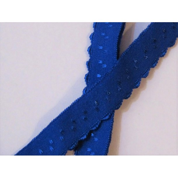 Folde elastik, 1 cm kobolt blå, fv. 7