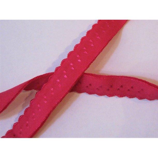 Folde elastik, 1 cm pink, fv. 10