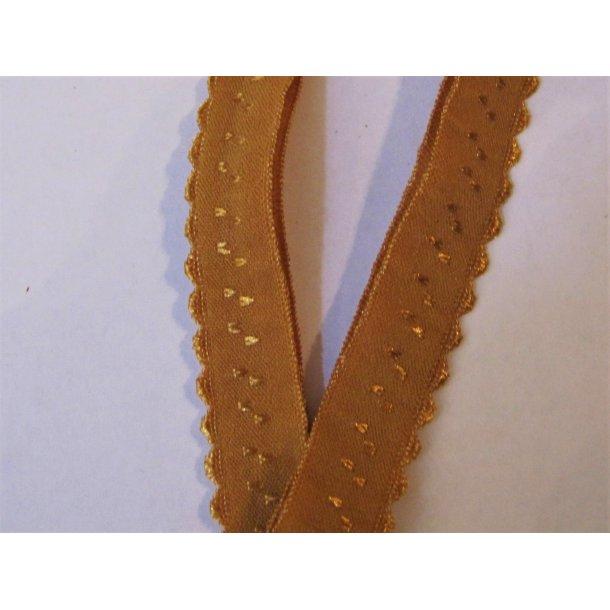 Folde elastik, 1 cm karry gul, fv. 12