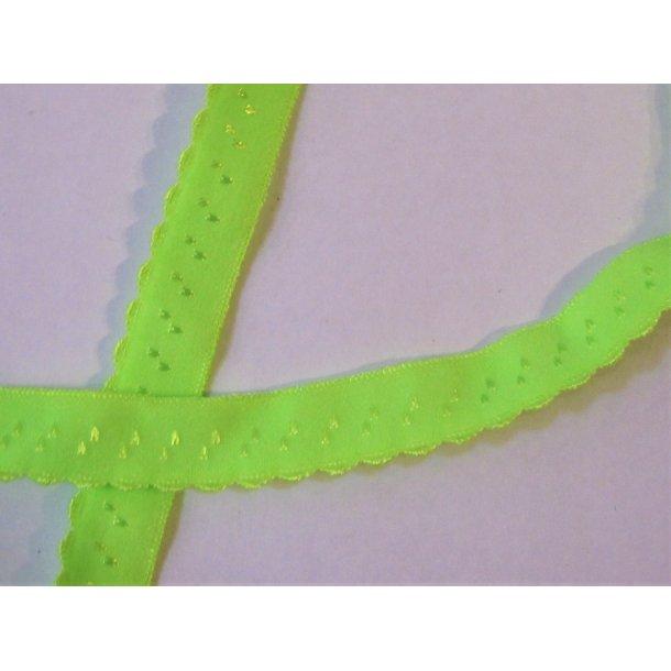 Folde elastk, 1 cm Neon grøn, fv. 13