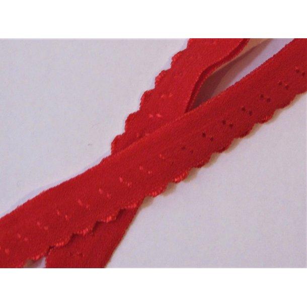 Folde elastik, 1 cm rød, fv. 250