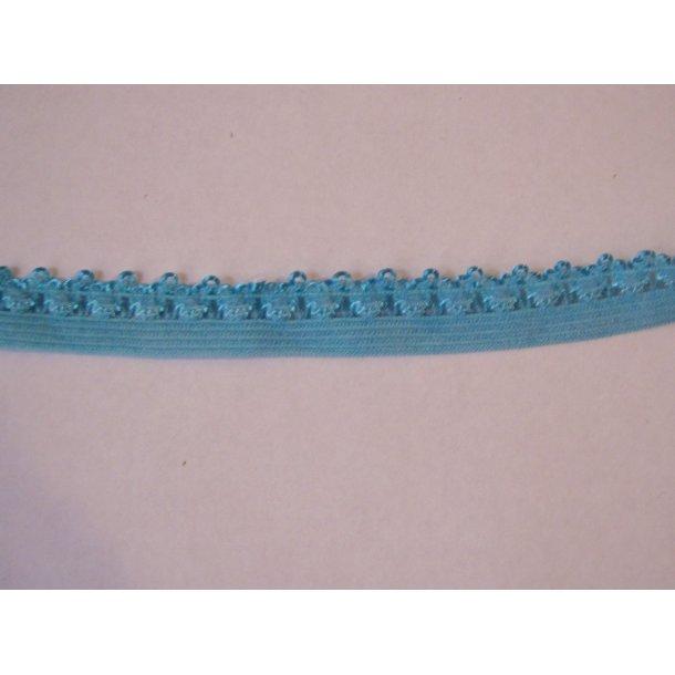 Blonde elastik, 1,4 cm blå, fv. 317