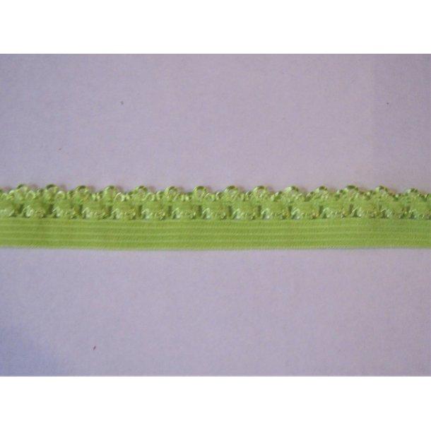 Blonde elastik, 1,4 cm lime grøn, fv. 550