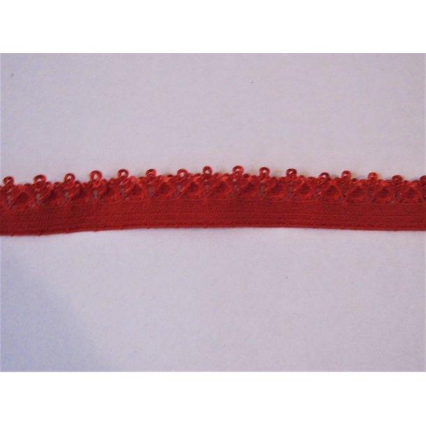 Blonde elastik, 1,4 cm dyb rød, fv. 250