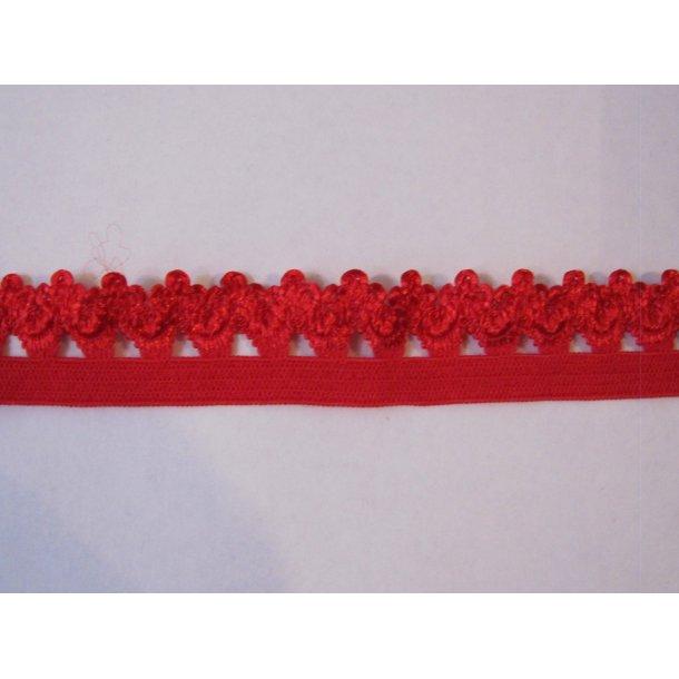 Blonde elastik, 1,6 cm rød, fv. 251