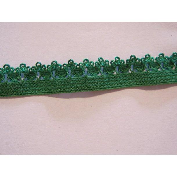 Blonde elastik, 1,4 cm grøn, fv. 587