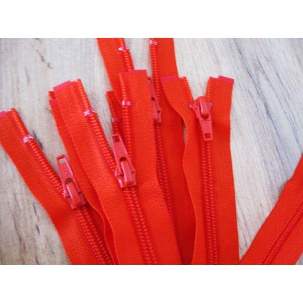 Lynlås plastik, Rød 45 cm fin delbar