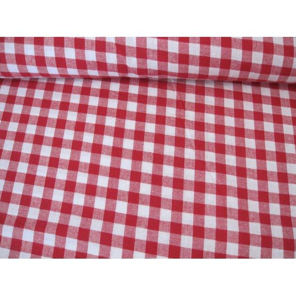 Fast bomuld, Rød/hvid picnik tern