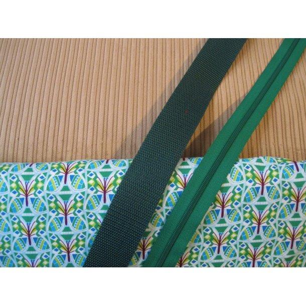 Bumbag pk. Bred brun fløjl, retro blomst grøn,bord.,turkis, grøn gjord/lyn