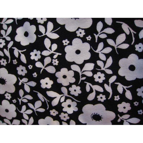 Jersey, Hvide blomster, sort bund