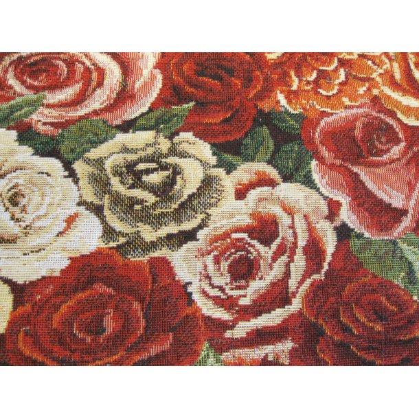 Fast bomuld lærred, Smukke gammel dags roser, meget kraftig