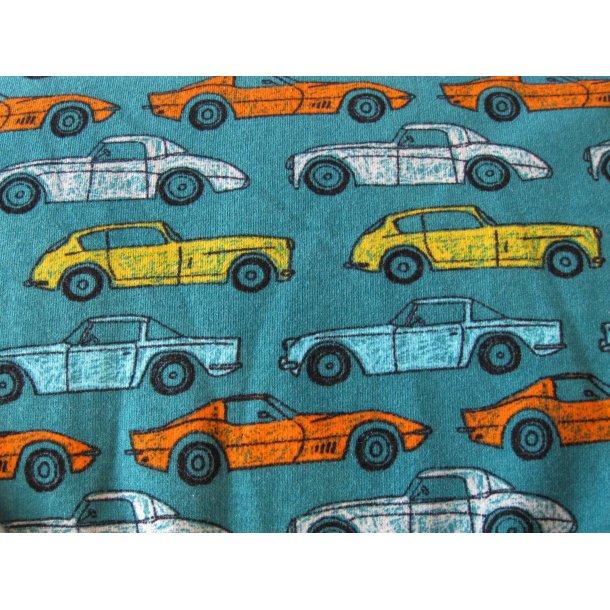 Isoli, Biler i gul, orange og blå, blå bund