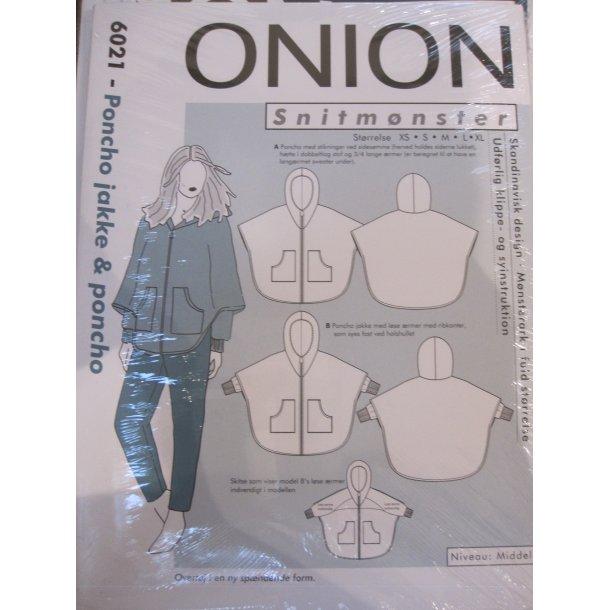 Onion 6021 Poncho jakke og poncho - udgår