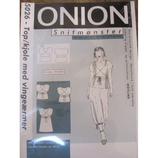Onion 5026 Top/kjole m. vingeærmer - udgår