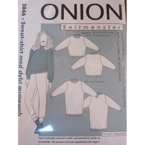 Onion 5046 Sweat-shirt m. dybt ærmgab