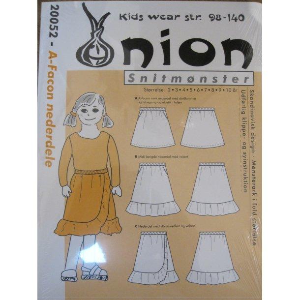 Onion 20052 Børne nederdel i a-facon m/u volant