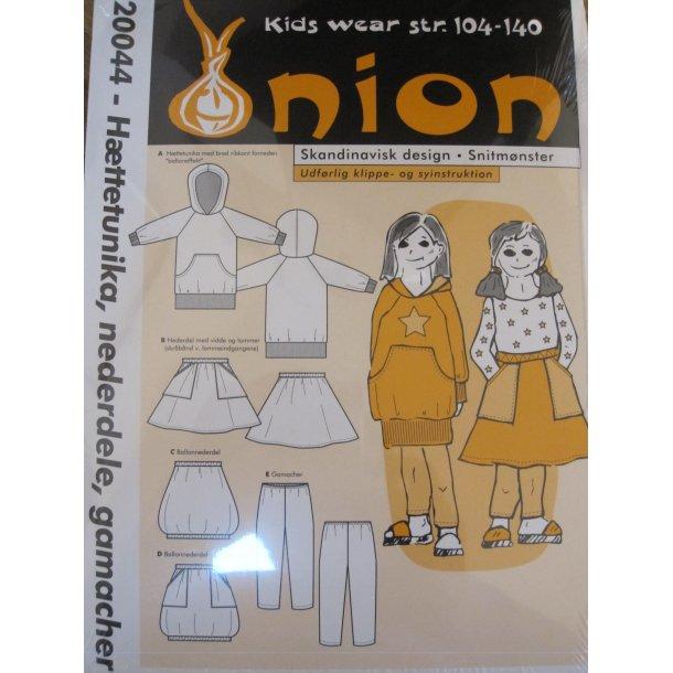 Onion 20044 børne hættetunika, nederdele og gamacher