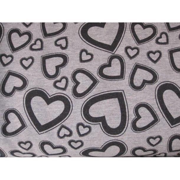 Isoli, Skønne hjerter, sort på lys grå bund
