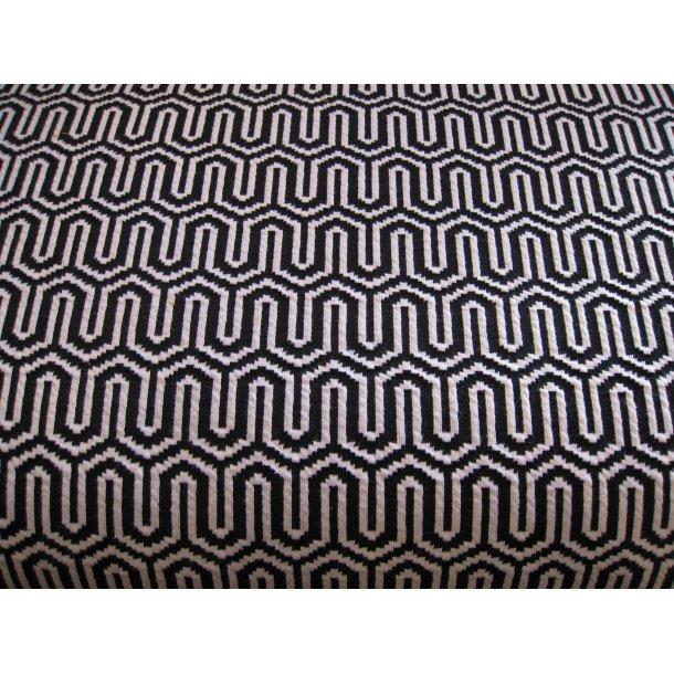 Jacquard, sort/hvid uendelige bølger