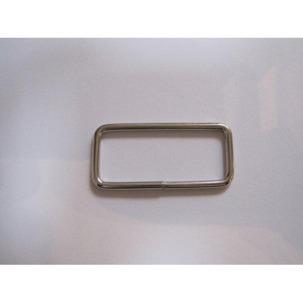 Aflang 4-kantet spænde, stål, 2 x 4 cm