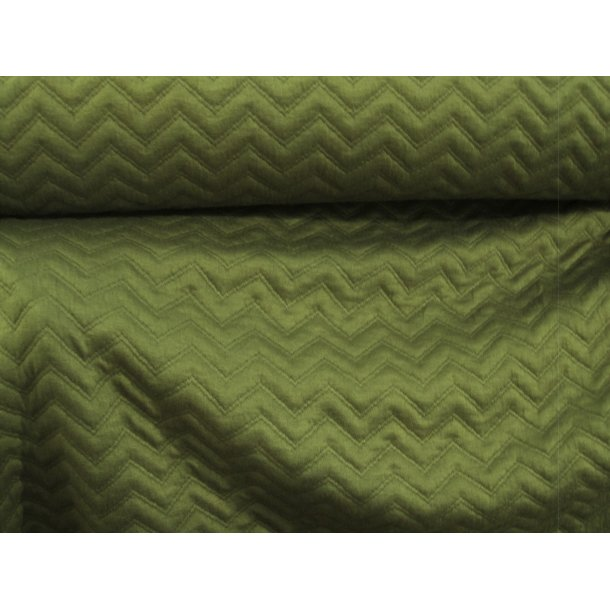 Jacquard, zigzag quiltet, army/oliven