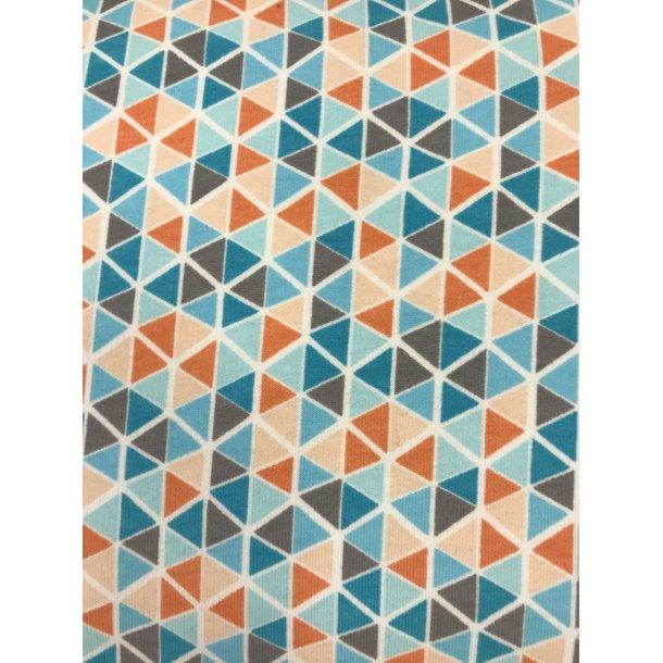 Isoli med blød bagside. Rude i blå og orange farver