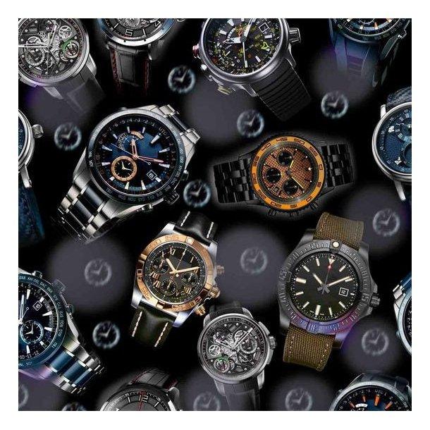Jersey digital, mega flotte ure, sort/grå bund